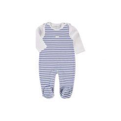 Feetje  Baby Stramplerset Ringel hellblau - niebieski. Niebieskie śpiochy niemowlęce marki Feetje, z bawełny, z długim rękawem. Za 75,00 zł.