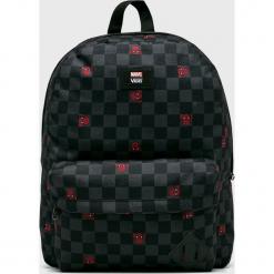 Vans - Plecak Spiderman. Czarne plecaki męskie marki Vans, z motywem z bajki, z poliesteru. Za 179,90 zł.