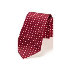 Krawaty męskie: Krawat męski REUS bordo kropki