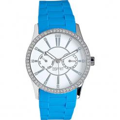 Zegarek kwarcowy w kolorze błękitno-srebrnym. Niebieskie, analogowe zegarki damskie Esprit Watches, srebrne. W wyprzedaży za 227,95 zł.