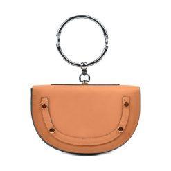 Torebki klasyczne damskie: Skórzana torebka w kolorze koniaku – (S)15 x (W)23 x (G)5 cm