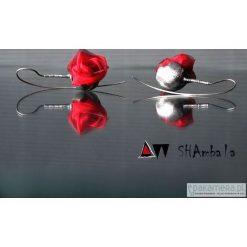 Kolczyki damskie: Kolczyki z czerwonymi różami DITH PRAN