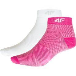 Skarpetki damskie: Skarpetki damskie SOD204 – różowy neon+biały