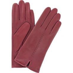 Rękawiczki damskie. Czerwone rękawiczki damskie Ochnik, ze skóry. Za 179,90 zł.