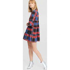 Czarno-Niebieska Sukienka One Night Later. Czarne sukienki other, uniwersalny, z koszulowym kołnierzykiem, koszulowe. Za 79,99 zł.