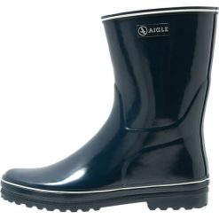Aigle VENISE Kalosze marine. Niebieskie buty zimowe damskie Aigle, z materiału. Za 239,00 zł.