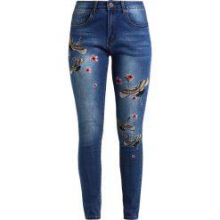 Liquor N Poker Jeans Skinny Fit mid denim. Niebieskie jeansy damskie Liquor N Poker, z bawełny. W wyprzedaży za 167,20 zł.