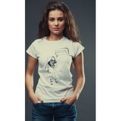 T-shirt MIASTO JEST MOJE damski biały. Białe t-shirty damskie marki Hultaj Polski, do pracy, na lato, l, z bawełny, biznesowe, ołówkowe. Za 79,00 zł.