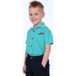 Koszula chłopięca krótki rękawek miętowa NDZ7462. Zielone koszule chłopięce z krótkim rękawem Fasardi. Za 49,00 zł.