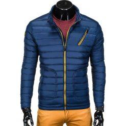 KURTKA MĘSKA PRZEJŚCIOWA PIKOWANA C290 - GRANATOWA. Brązowe kurtki męskie pikowane marki Ombre Clothing, m, z nylonu. Za 79,00 zł.