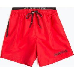 Calvin Klein - Męskie spodenki kąpielowe, czerwony. Czerwone kąpielówki męskie Calvin Klein, m. Za 229,95 zł.