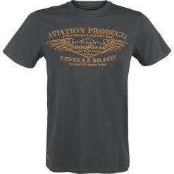 T-shirty męskie z nadrukiem: GoodYear Crawford T-Shirt ciemnoszary (Anthracite)