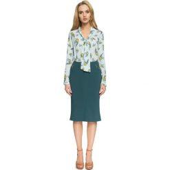 DARELLE Spódnica rybka z zameczkami - zielona. Zielone minispódniczki Stylove, z tkaniny, biznesowe, dopasowane. Za 109,00 zł.