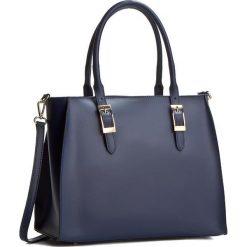 Torebka CREOLE - K10236  Granat. Niebieskie torebki klasyczne damskie Creole, ze skóry. W wyprzedaży za 259,00 zł.