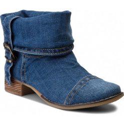 Botki SERGIO BARDI - Acate SS127293318HB  913. Niebieskie buty zimowe damskie Sergio Bardi, z materiału, na obcasie. W wyprzedaży za 209,00 zł.
