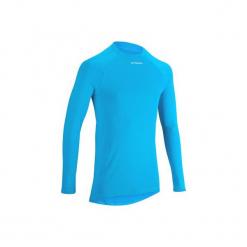 Koszulka Termoaktywna Długi Rękaw Na Rower 100 Męska B'twin. Niebieskie odzież rowerowa męska B'TWIN, l, z materiału. W wyprzedaży za 27,00 zł.