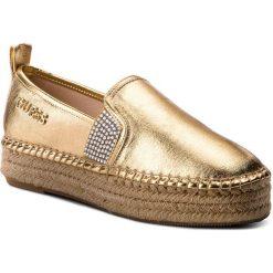 Espadryle GUESS - Rela FLRLE2 FAM14  GOLD. Żółte espadryle damskie marki Born2be, moro, na płaskiej podeszwie. W wyprzedaży za 249,00 zł.