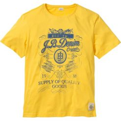 T-shirty męskie z nadrukiem: T-shirt Regular Fit bonprix żółty