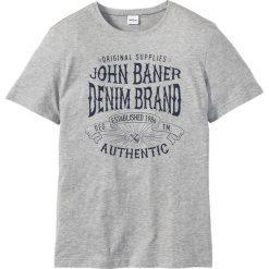T-shirty męskie z nadrukiem: T-shirt z nadrukiem Regular Fit bonprix jasnoszary melanż