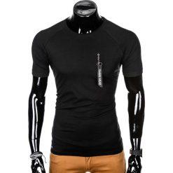 T-SHIRT MĘSKI Z NADRUKIEM S1011 - CZARNY. Czarne t-shirty męskie z nadrukiem Ombre Clothing, m, z bawełny. Za 35,00 zł.
