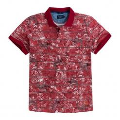 Koszulka polo w kolorze czerwonym ze wzorem. Czerwone koszulki polo marki Pepe Jeans, m, z krótkim rękawem. W wyprzedaży za 149,95 zł.