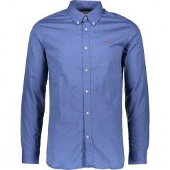 Koszula w kolorze niebieskim. Niebieskie koszule męskie marki U.S. Polo Assn., m, z haftami, z bawełny, z klasycznym kołnierzykiem. W wyprzedaży za 195,95 zł.