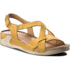 Rzymianki damskie: Sandały WALDI - 0568 Żółty
