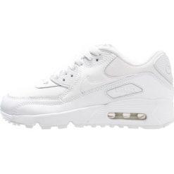 Nike Sportswear AIR MAX 90 Tenisówki i Trampki white. Białe buty sportowe chłopięce Nike Sportswear, z gumy. W wyprzedaży za 359,20 zł.