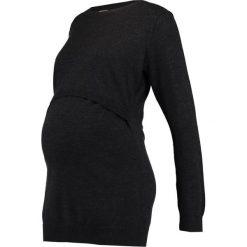 Swetry klasyczne damskie: Boob Sweter dunkelgrau