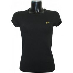 Lotto Koszulka Mya Ii Womens Black Xs. Czarne topy sportowe damskie Lotto, xs, z krótkim rękawem. Za 34,00 zł.