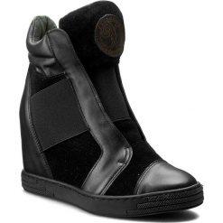 Sneakersy damskie: Sneakersy ROBERTO – 528/D Cz. Lico/Cz. Welur