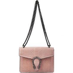 Torebki klasyczne damskie: Skórzana torebka w kolorze pudrowym – (S)23 x (W)16,5 x (G)7 cm