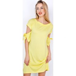 Sukienki: Sukienka z wiązaniem na rękawkach