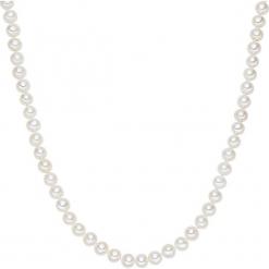 Naszyjnik z pereł w kolorze białym - dł. 120 cm. Białe naszyjniki damskie marki Sinsay. W wyprzedaży za 363,95 zł.