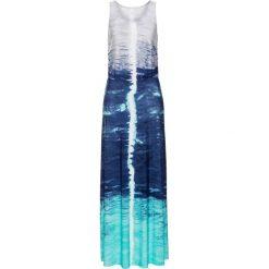 Długie sukienki: Sukienka bonprix niebiesko-szary batikowy