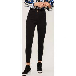 Jeansy high waist skinny - Czarny. Czarne jeansy damskie skinny marki House, z podwyższonym stanem. Za 79,99 zł.