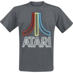 Atari Neon Logo T-Shirt odcienie ciemnoszarego. Szare t-shirty męskie marki ATARI, xl. Za 74,90 zł.