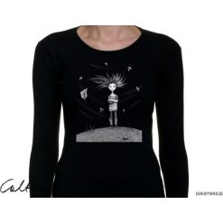 Wietrzna - damska koszulka z długim rękawem. Czarne bluzki longsleeves Pakamera. Za 79,00 zł.