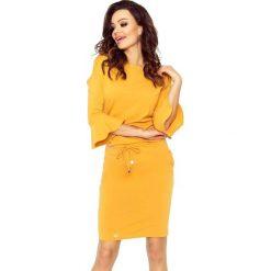 Camelia uniwersalna i wygodna sukienka miodowy. Żółte sukienki hiszpanki Bergamo, uniwersalny, sportowe, sportowe. Za 139,99 zł.