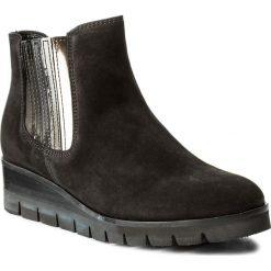 Botki GABOR - 71.860.37 Schwarz/Fango. Czarne buty zimowe damskie Gabor, z materiału. W wyprzedaży za 329,00 zł.