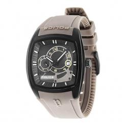 """Zegarek """"PL.93542AEU/02A"""" w kolorze beżowo-czarnym. Brązowe, analogowe zegarki męskie NIXON & ESPRIT, sztuczne. W wyprzedaży za 539,95 zł."""