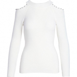 Biały Sweter Wait For Me. Białe swetry klasyczne damskie Born2be, na jesień, l. Za 69,99 zł.