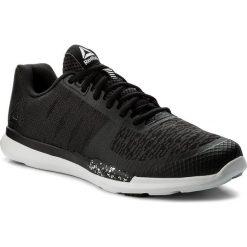 Buty Reebok - Reebok Sprint Tr CN1232 Blk/Wht/Skull Grey. Czarne buty do biegania damskie Reebok, z materiału. W wyprzedaży za 229,00 zł.