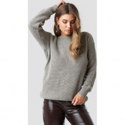 Glamorous Sweter z odkrytymi plecami - Grey. Różowe swetry klasyczne damskie marki Glamorous, z nadrukiem, z asymetrycznym kołnierzem, asymetryczne. Za 141,95 zł.