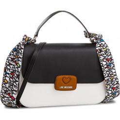 Torebka LOVE MOSCHINO - JC4250PP05KF010A  Bianco/Cuoio/Nero. Czarne torebki klasyczne damskie Love Moschino, ze skóry ekologicznej. W wyprzedaży za 529,00 zł.