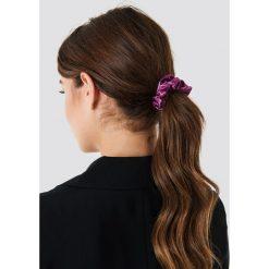 Ozdoby do włosów: NA-KD Accessories Satynowa gumka owijka – Purple