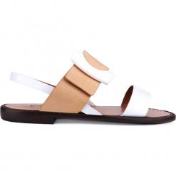 Sandały. Brązowe sandały damskie Gino Rossi, ze skóry. Za 69,90 zł.