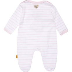 Bielizna dziewczęca: Steiff Collection 1/1 ARM NEWBORN WELLNESS WEAR BABY Piżama barely pink