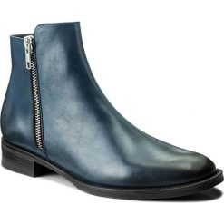 Botki EVA MINGE - Odalys 2F 17GR1372265EF 107. Niebieskie buty zimowe damskie Eva Minge, ze skóry, na obcasie. W wyprzedaży za 289,00 zł.