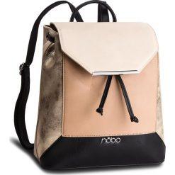 Plecak NOBO - NBAG-F0760-CM15 Multi Beżowy. Brązowe plecaki damskie Nobo, ze skóry ekologicznej, klasyczne. W wyprzedaży za 159,00 zł.